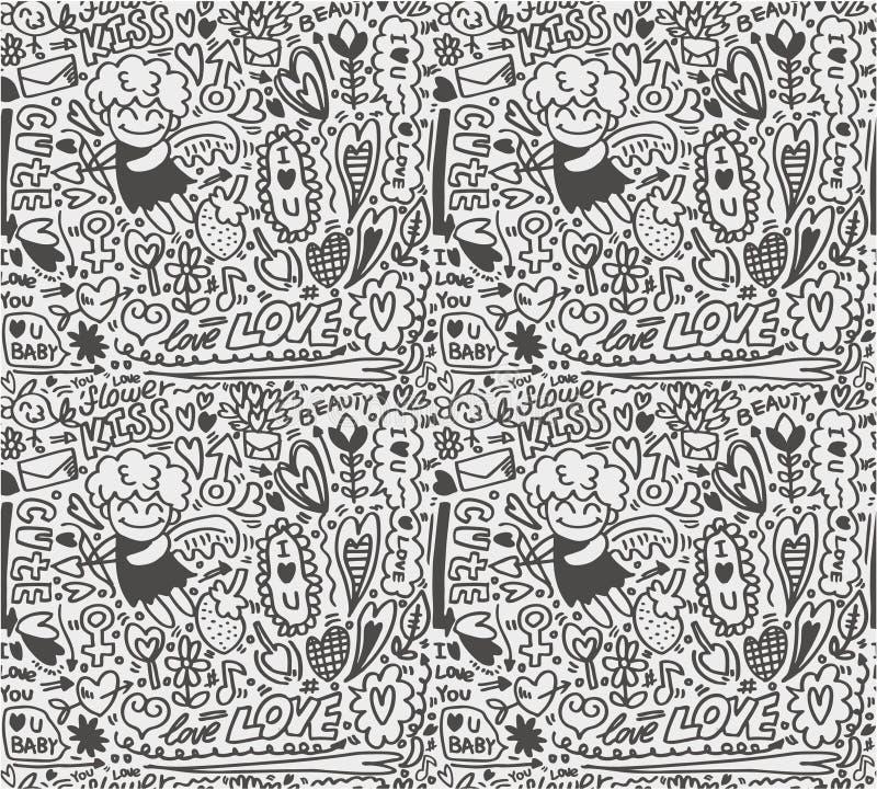 Configuration sans joint d'amour illustration stock