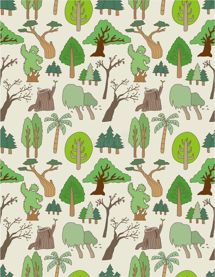 Configuration sans joint d'arbre illustration stock