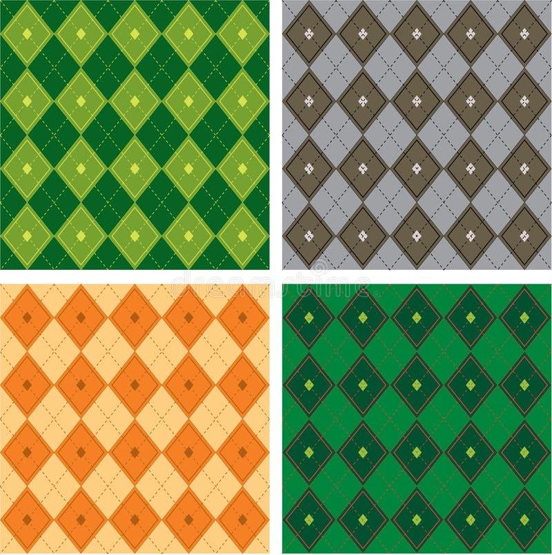 Configuration sans joint d'art de vecteur de Chaussette avec des losanges-Plaid illustration libre de droits