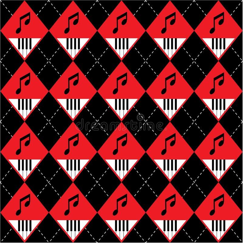 Configuration sans joint d'art de vecteur de Chaussette avec des losanges-Plaid illustration stock