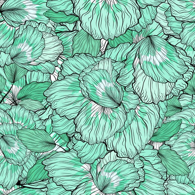 Download Configuration Sans Joint D'ornement Floral Illustration Stock - Illustration du botanique, centrale: 76088940