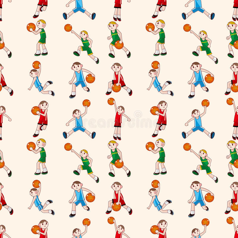Configuration sans joint de basket-ball illustration stock