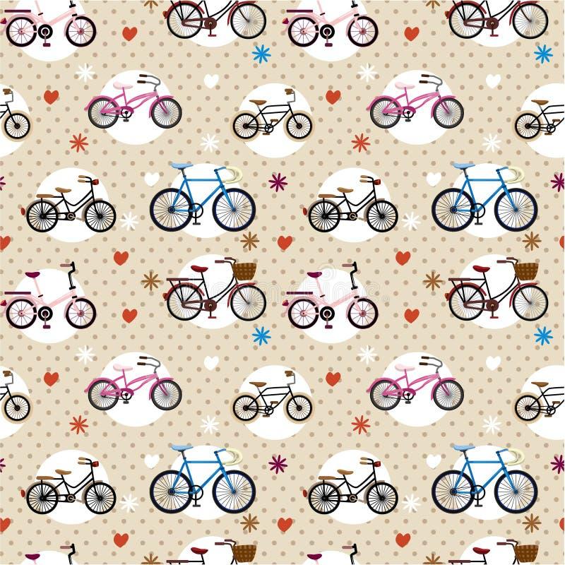 Configuration sans joint de bicyclette illustration de vecteur