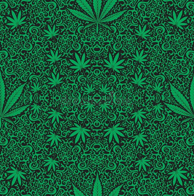 Configuration sans joint de cannabis illustration de vecteur