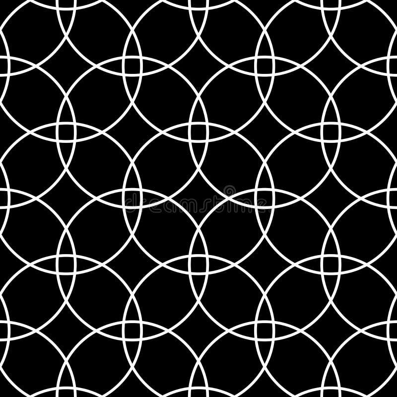 Configuration sans joint de cercles Texture et fond géométriques noirs et blancs illustration de vecteur