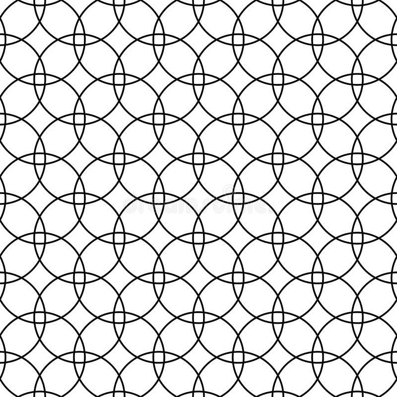 Configuration sans joint de cercles Texture géométrique illustration de vecteur
