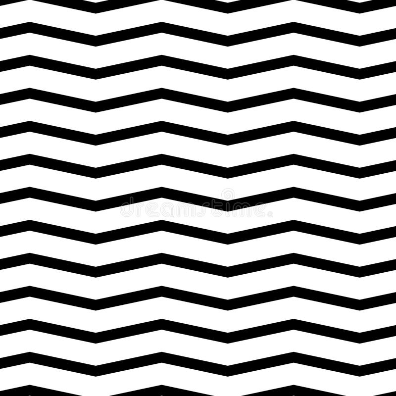Configuration sans joint de chevron Fond monochrome et noir et blanc de zigzag photo libre de droits