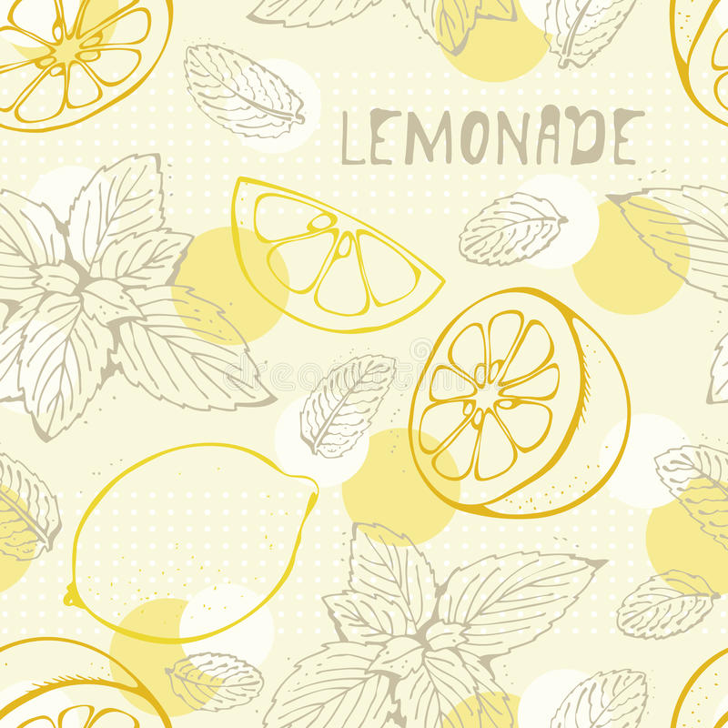 Configuration sans joint de citronnade illustration libre de droits