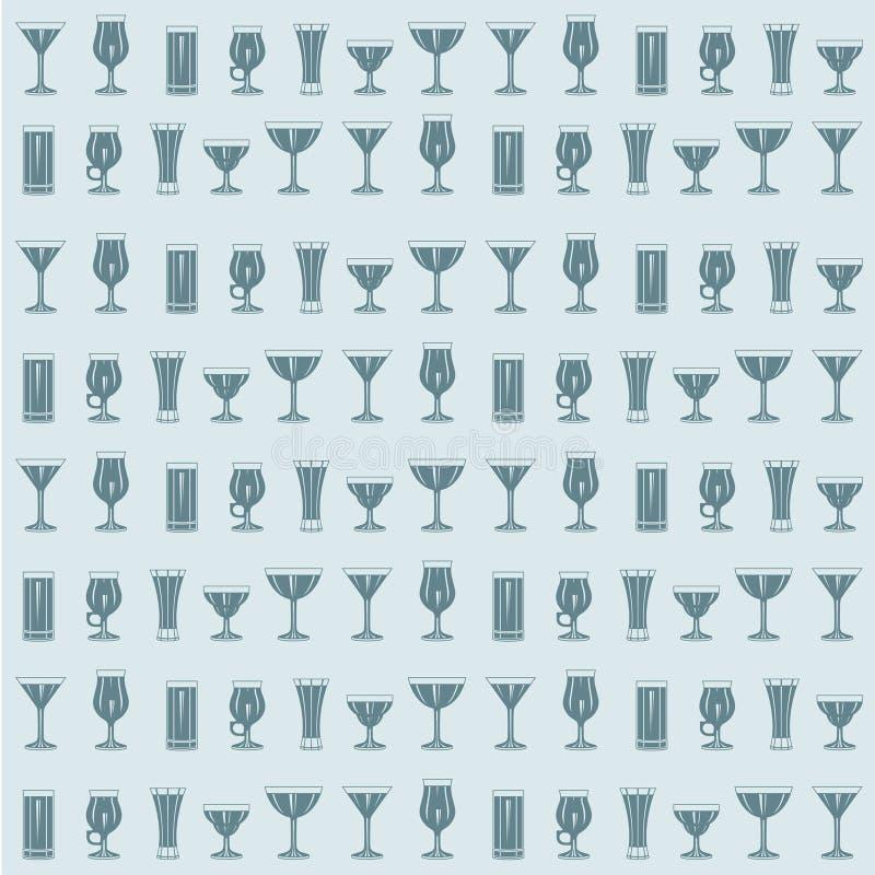 Configuration sans joint de cocktails illustration de vecteur