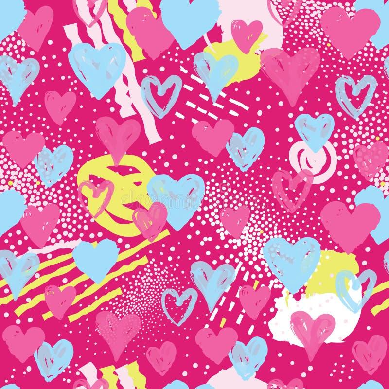Configuration sans joint de coeur Fond de vacances décor de Saint Valentin illustration libre de droits