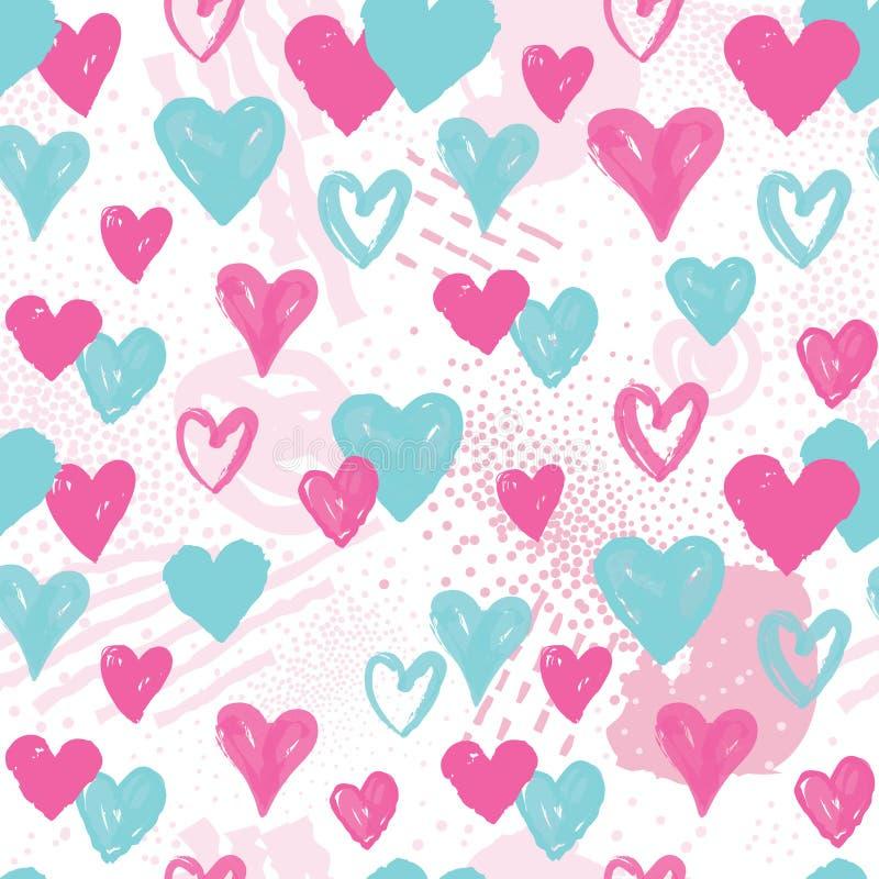 Configuration sans joint de coeur Fond de vacances décor de Saint Valentin illustration stock