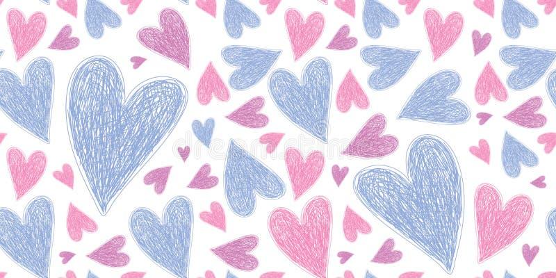 Configuration sans joint de coeur Illustration d'amour de vecteur Jour du ` s de Valentine, jour du ` s de mère Mariage, album, p photographie stock libre de droits
