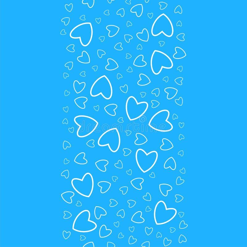 Configuration sans joint de coeur Pour des copies, cartes de voeux, invitations pour des vacances, anniversaire, mariage, Saint-V illustration stock