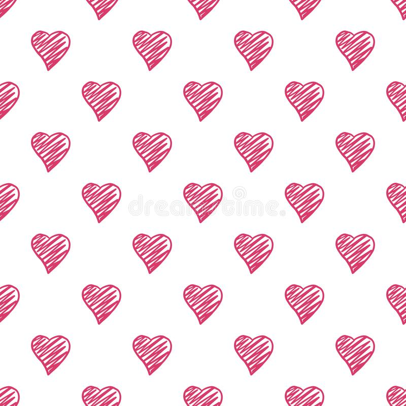 Configuration sans joint de coeurs Contexte de jour de valentines 14 f?vrier fond illustration libre de droits