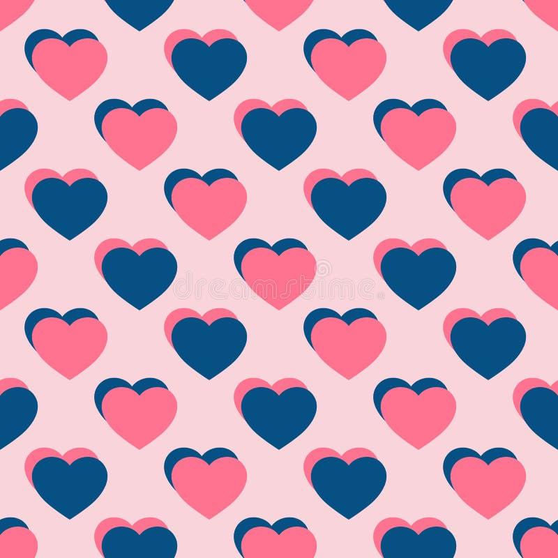 Configuration sans joint de coeurs Fond de jour de valentines Fond romantique d'amour illustration libre de droits