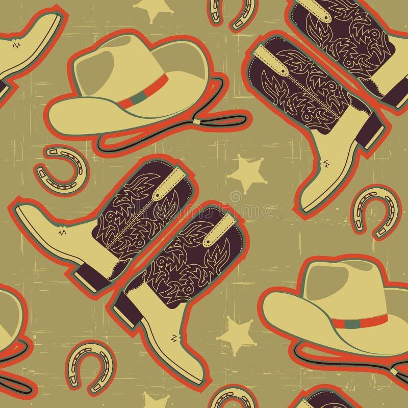 Configuration sans joint de cowboy pour le fond. illustration stock