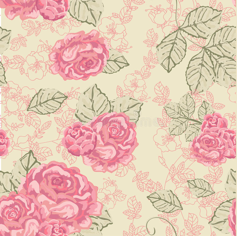 Configuration sans joint de cru de Rose illustration stock