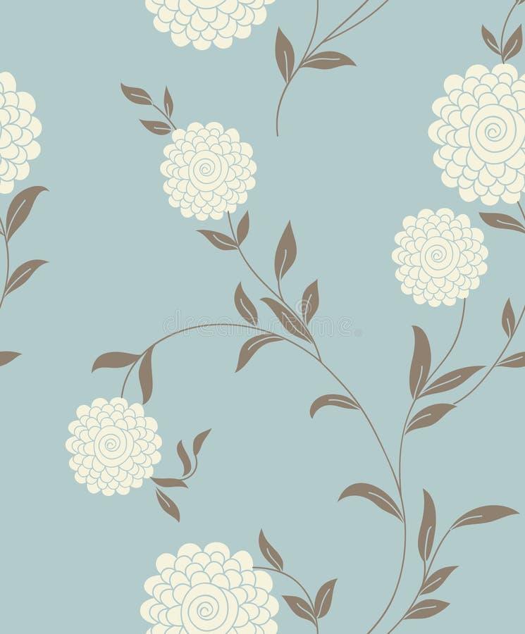 Configuration sans joint de cru floral léger illustration libre de droits
