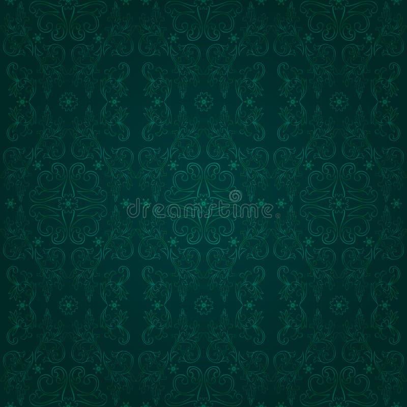 Configuration sans joint de cru floral sur un fond vert illustration libre de droits