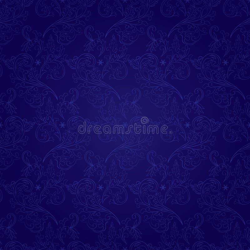 Configuration sans joint de cru floral sur un fond violet illustration stock