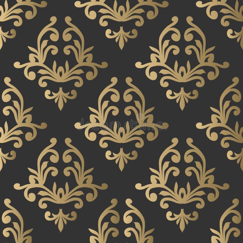 Configuration sans joint de cru Papier peint fleuri floral Vecteur foncé d photos stock