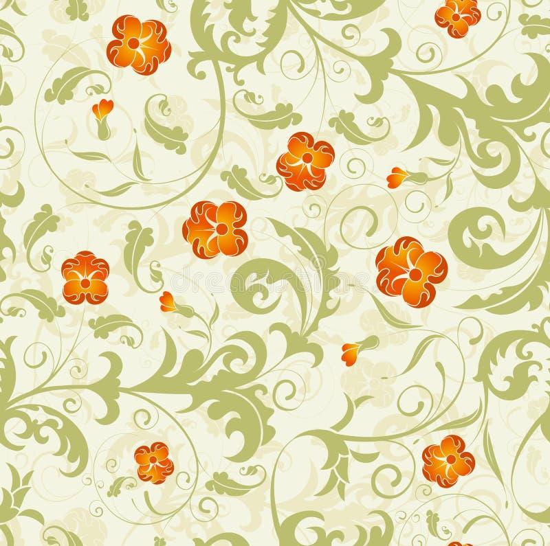 Configuration sans joint de damassé de fleur illustration libre de droits