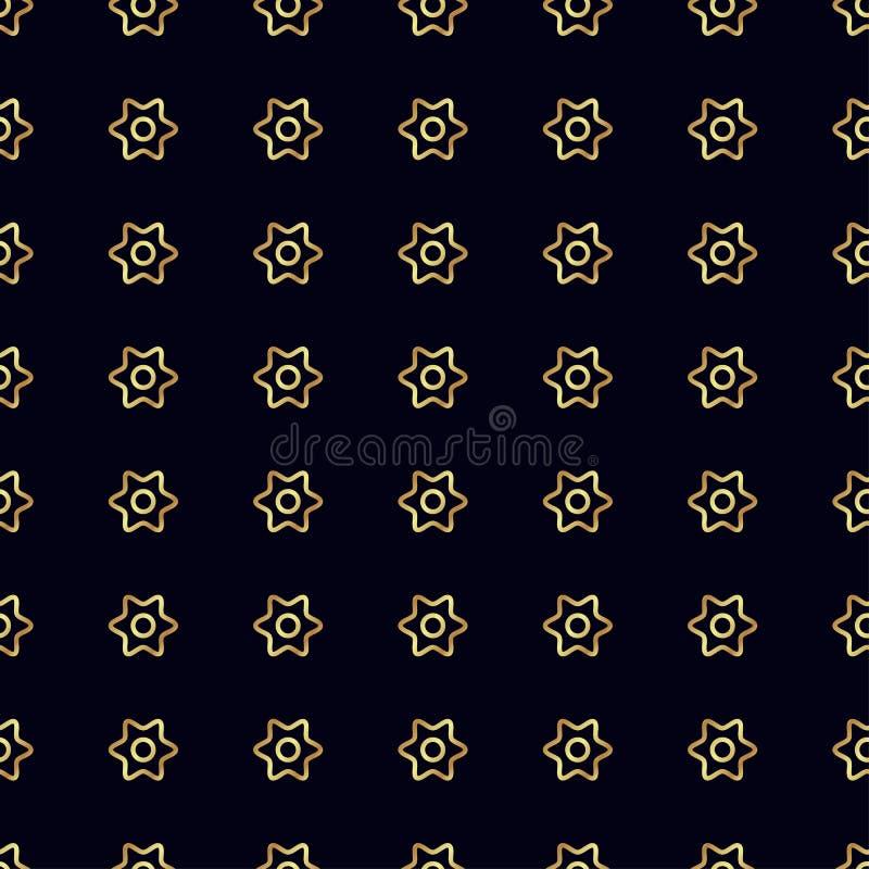 Download Configuration Sans Joint De Fleur D'or Image stock - Image du répétition, linéaire: 87701817