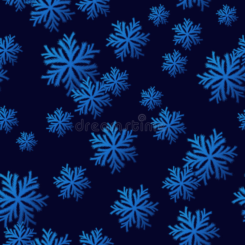 Configuration sans joint de flocon de neige illustration stock