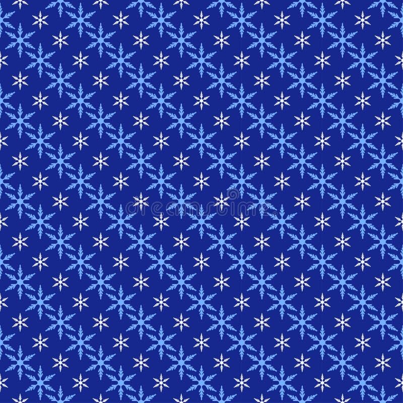Configuration sans joint de flocons de neige, fond de neige illustration stock