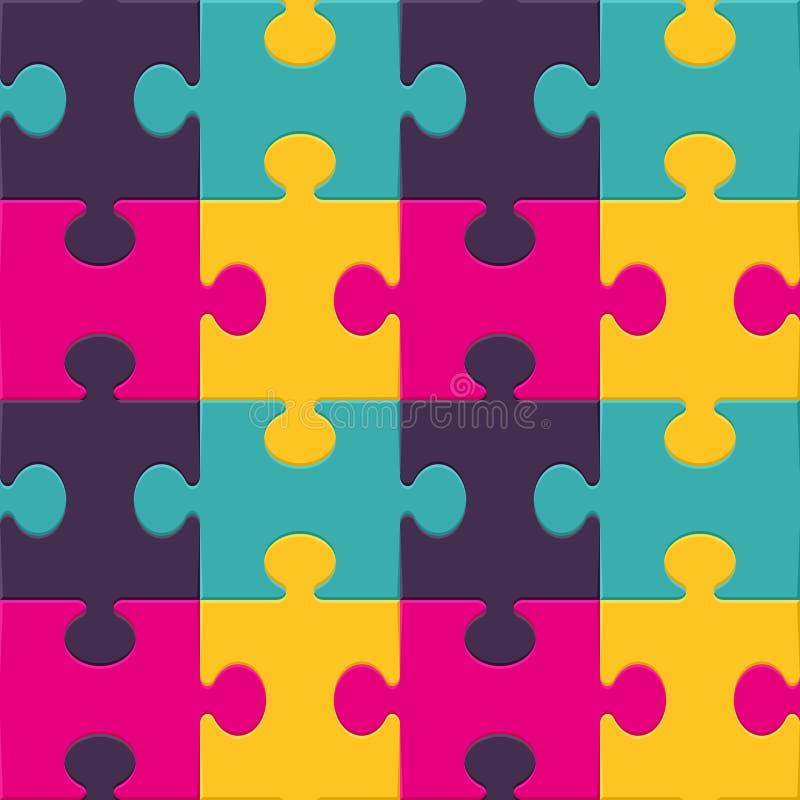 Configuration sans joint de fond de puzzle coloré illustration stock