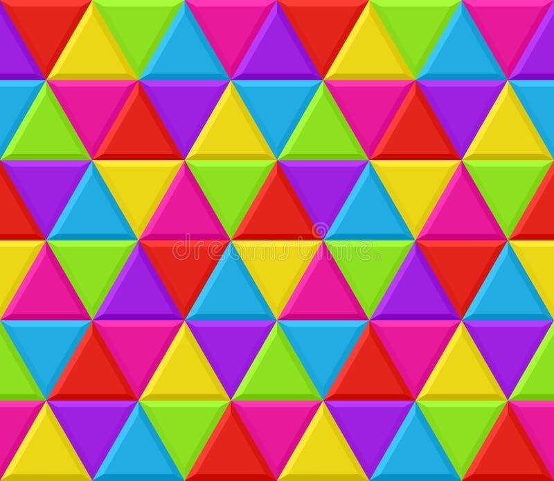 Configuration sans joint de fond de triangles multicolores illustration de vecteur