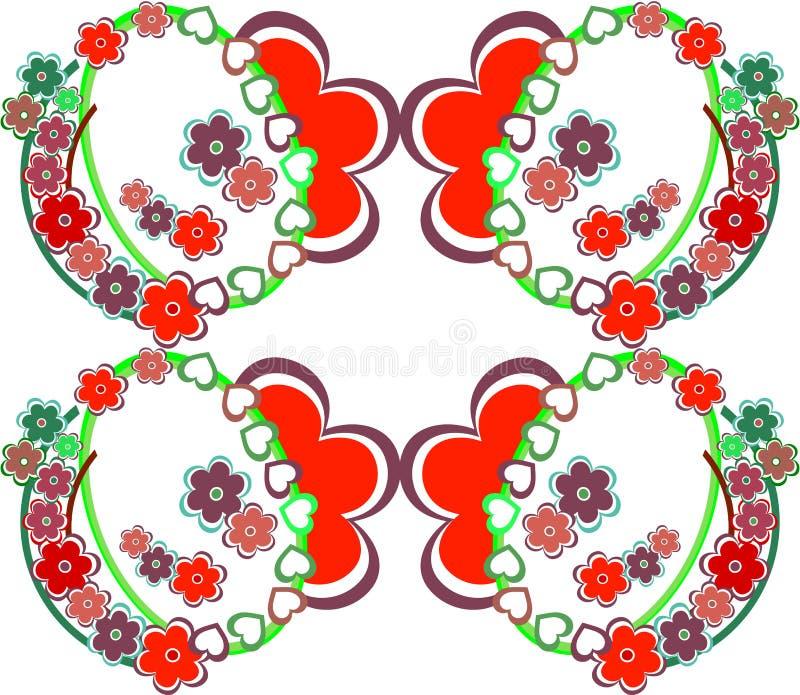 Configuration sans joint de fond romantique de fleur rétro illustration libre de droits