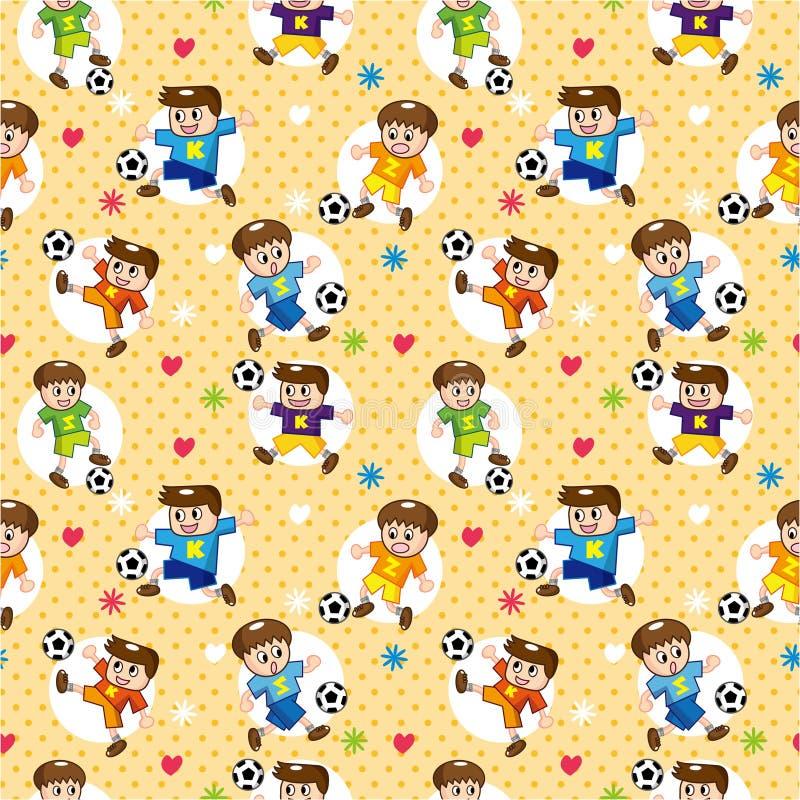 Configuration sans joint de footballeur illustration stock