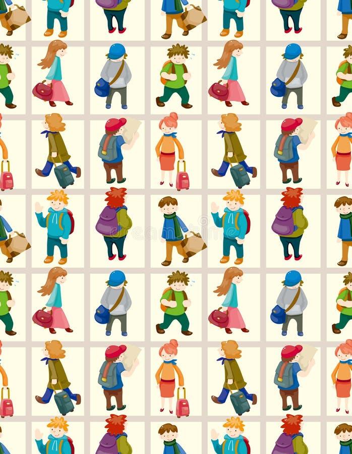 Configuration sans joint de gens de course de dessin animé illustration de vecteur