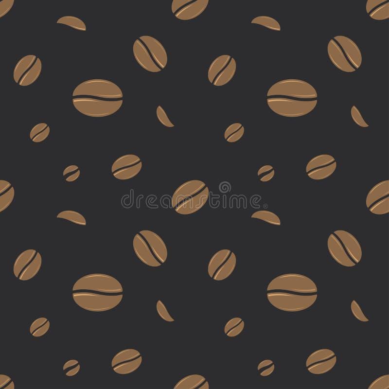 Configuration sans joint de grains de café illustration de vecteur