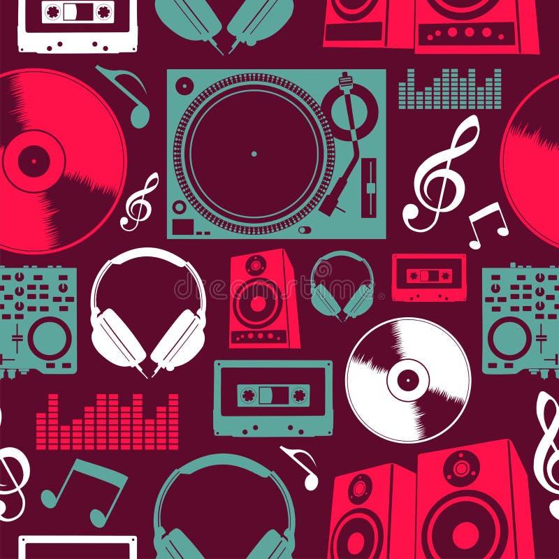 Configuration sans joint de graphismes de musique illustration de vecteur