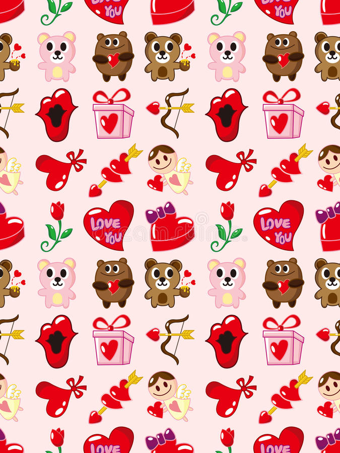 Configuration sans joint de jour de Valentines illustration stock