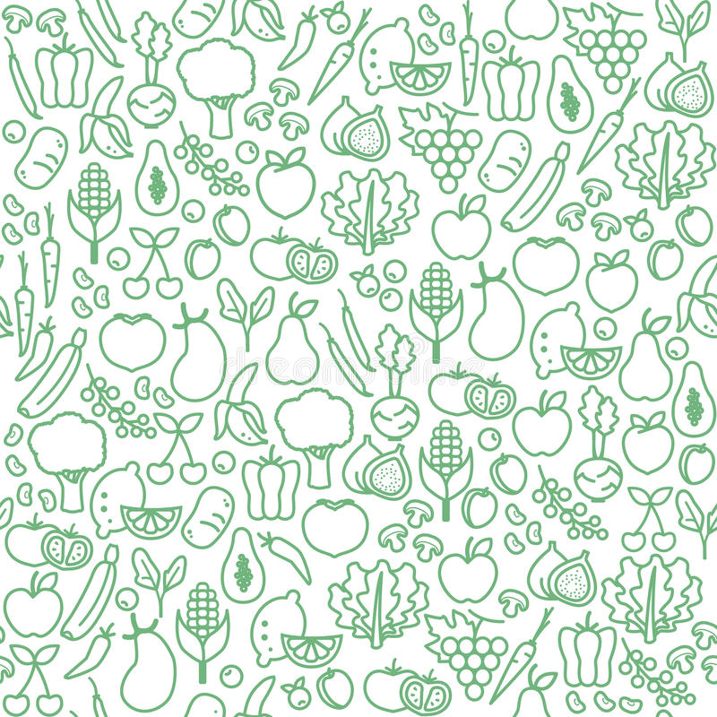 Configuration sans joint de légumes illustration stock