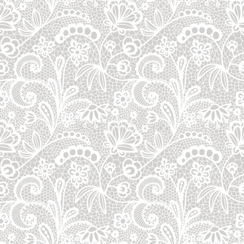 Configuration sans joint de lacet avec des fleurs illustration de vecteur