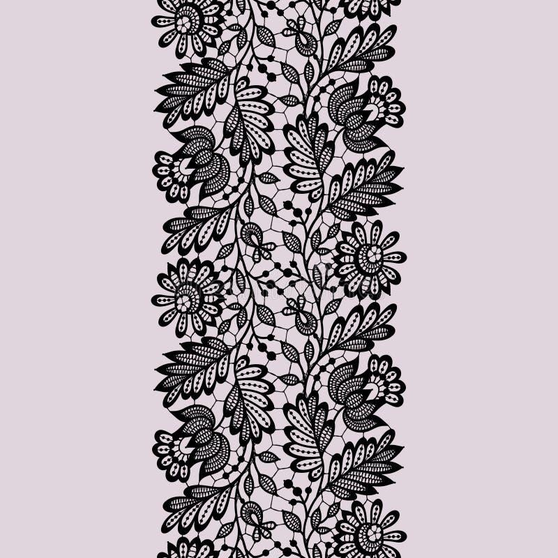 Configuration sans joint de lacet noir illustration stock