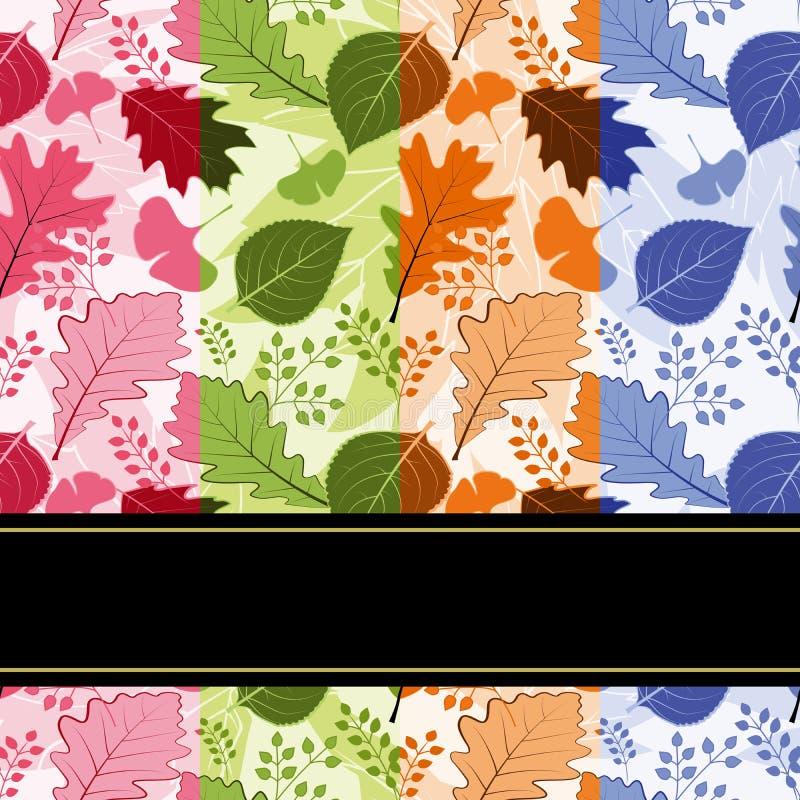 Configuration sans joint de lames quatre-saisons colorées photo stock