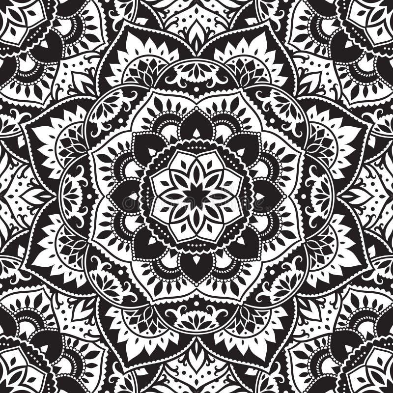 Configuration sans joint de mandala illustration stock