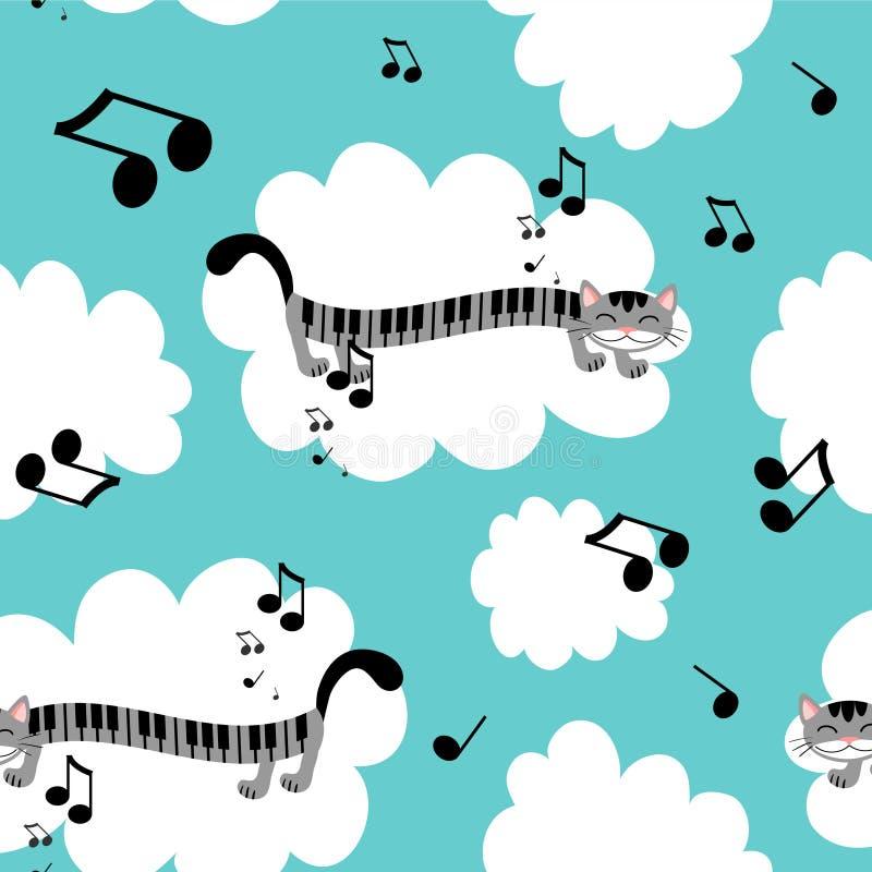 Configuration sans joint de minou de musique illustration libre de droits