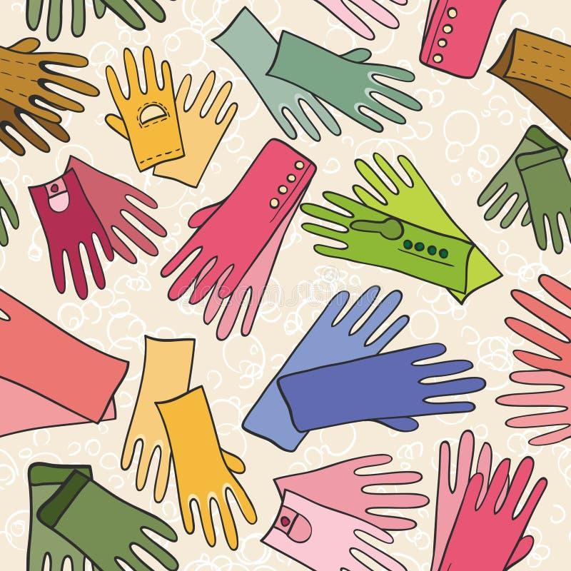 Configuration sans joint de mode colorée (gants) illustration de vecteur