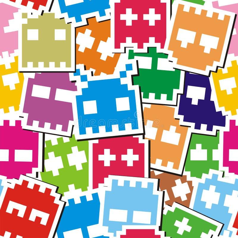 Configuration sans joint de monstre de Pixel illustration stock