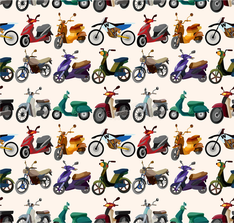 Configuration sans joint de motos illustration stock