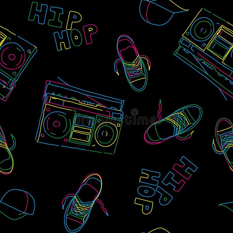 Configuration sans joint de musique de hip-hop illustration libre de droits