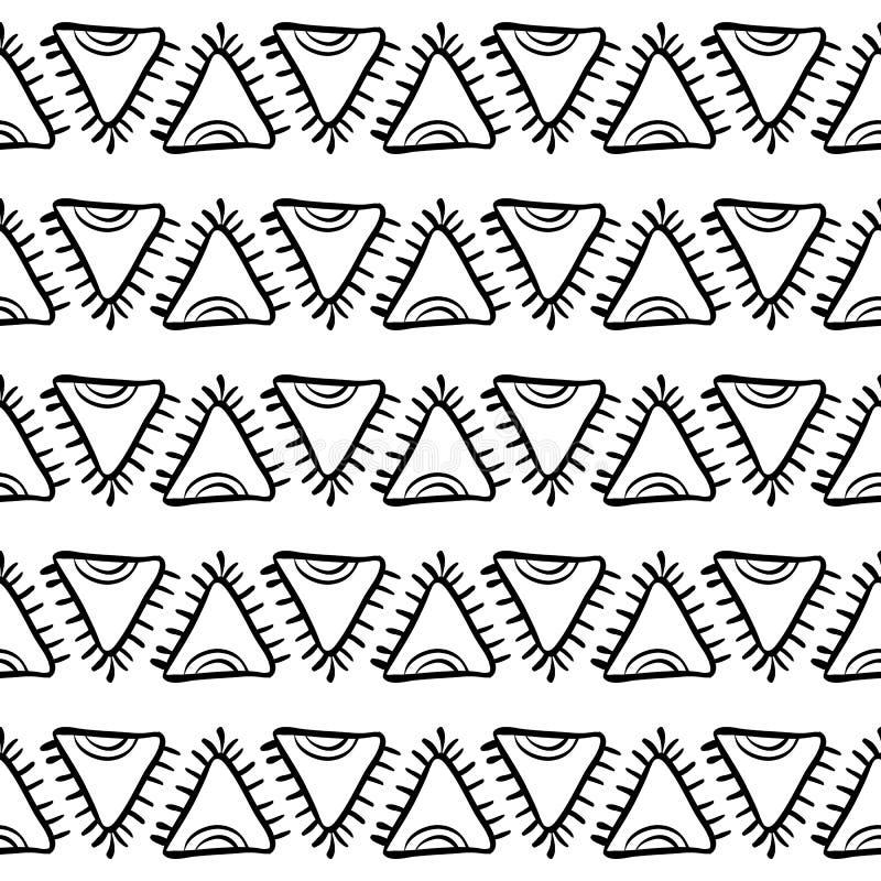 Configuration sans joint de Natif américain illustration stock