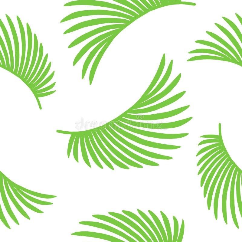 configuration sans joint de nature Fond tropical abstrait tir? par la main d'?t? illustration de vecteur