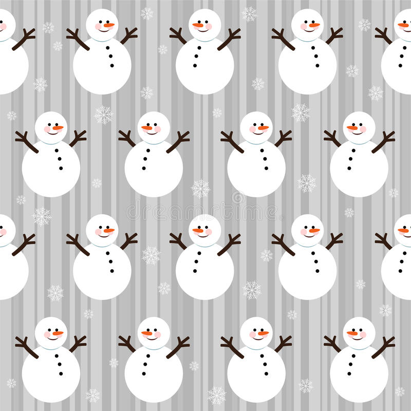 Configuration sans joint de Noël de l'hiver illustration libre de droits